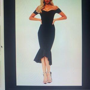 Missguided Black Dress